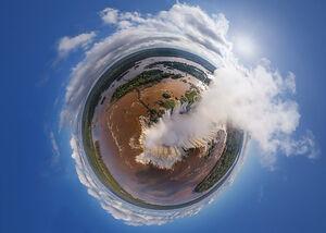تصویر هوایی360درجه از آبشار ایگواسو