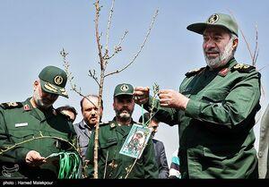 عکس/ مراسم درختکاری در دانشگاه امام حسین(ع)