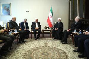 عکس/ دیدار روحانی با فرمانده حشدالشعبی