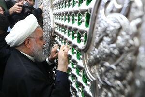 فیلم/ تشرف روحانی به حرم امیرالمومنین(ع)