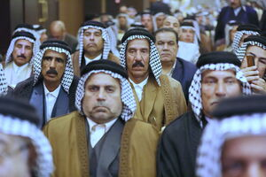 عکس/ دیدار روحانی با سران عشایر عراق