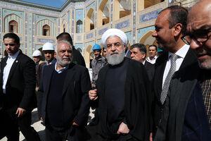 عکس/ بازدید روحانی از صحن حضرت زهرا(س)