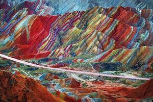 عکس/ معجزه زیبای طبیعت در کوههای زنجان