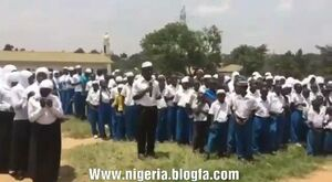 دعای فرج دانش آموزان در مدرسهای در آفریقا +فیلم