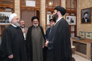 عکس/ حضور روحانی در بیت تاریخی حضرت امام