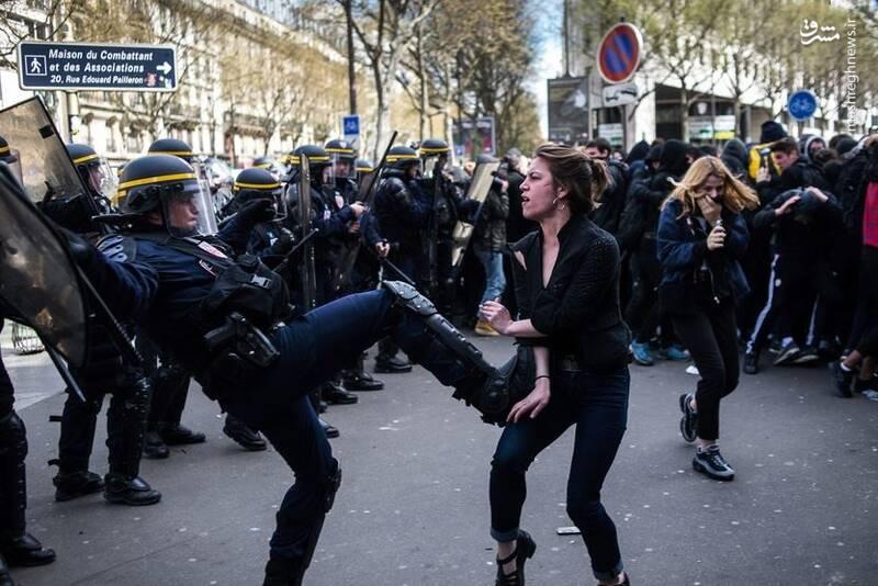 خشونت پلیس فرانسه علیه زنان در عمده خبرگزاریهای غربی سانسور شد. در ماههای آخر سال جنبش جلیقهزردها روزهای سختی را برای مکرون رئیسجمهور فرانسه رقم زد.