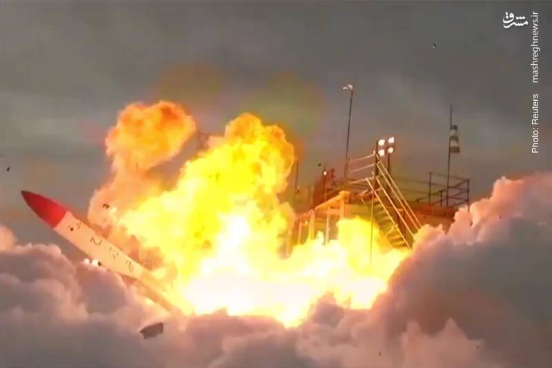 انفجار راکت مومو-2 لحظاتی پس از پرتاب از هوکایدو در ژاپن