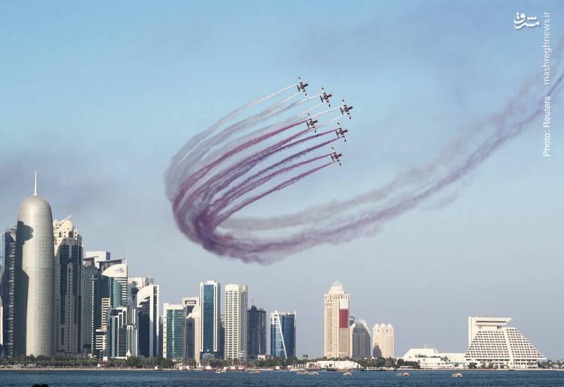 نمایش هوایی در روز ملی قطر