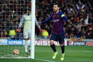صعود بارسلونا در شب درخشش مسی و گلباران لیون