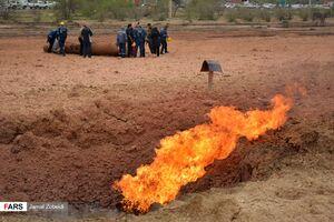 انفجار لوله گاز در جاده اهواز ماهشهر