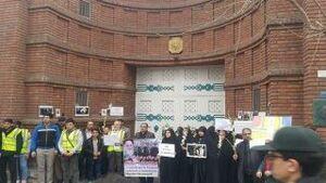 تجمع مقابل سفارت فرانسه در تهران در حمایت از جلیقه زردها