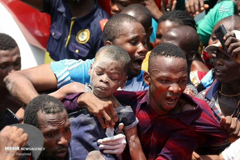 عکس/ ریزش مرگبار ساختمان مدرسه در نیجریه