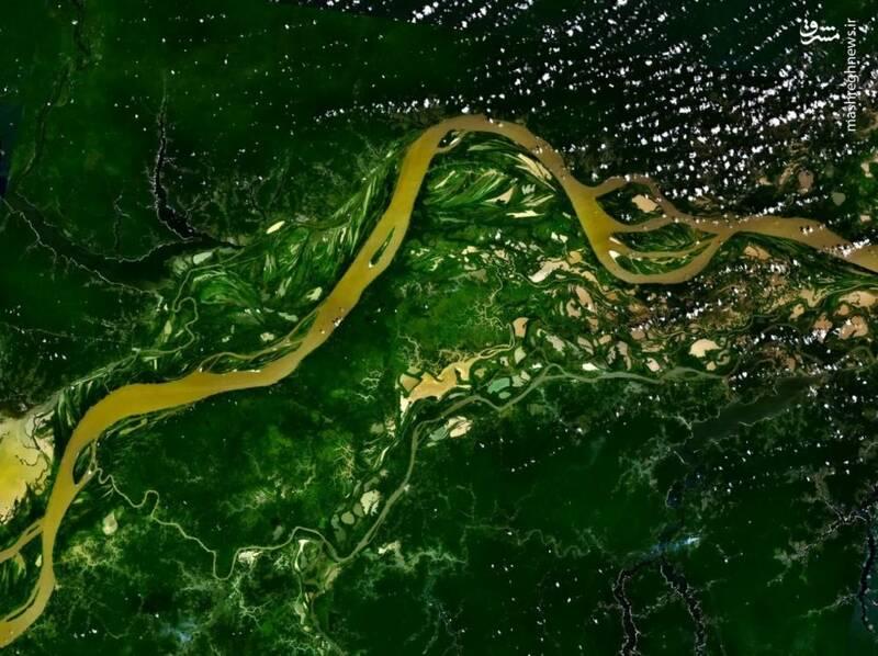 رود آمازون از فضا