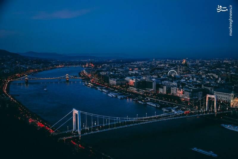 رودخانه «دانوب» در بوداپست مجارستان.