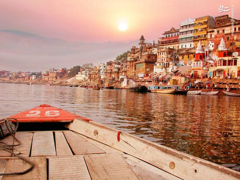 غروب رود گنگ هند