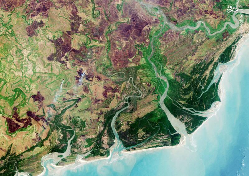 دلتای رودخانه «زامبزی» در آفریقا