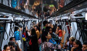 عکس/ آغاز به کار مترو در ونزوئلا