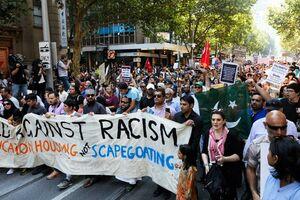 تظاهرات در ملبورن در محکومیت حمله تروریستی نیوزیلند