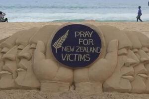 فیلم/ یادمان هنرمند هندی برای شهدای مسجد نیوزیلند
