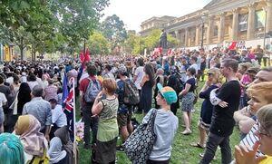تظاهرات ضد اسلامهراسی استرالیاییها در ملبورن