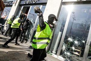 خسارت جلیقه زردها به فروشگاه های پاریس