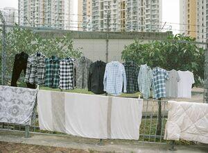 عکس/ خشک کردنِ لباس در اماکن عمومی!