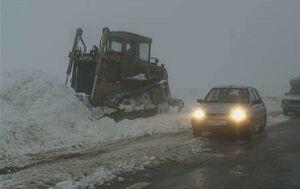 محور هراز به دلیل بارش برف مسدود شد