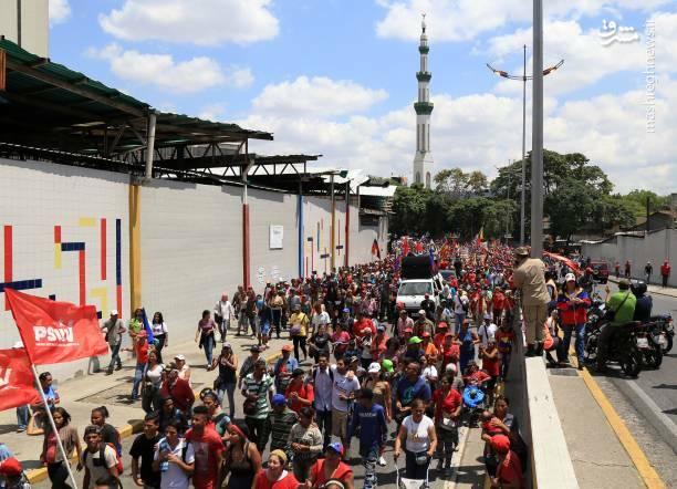 عکس/ تظاهرات حامیان نیکلاس مادورو در ونزوئلا - 6
