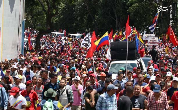 عکس/ تظاهرات حامیان نیکلاس مادورو در ونزوئلا - 8