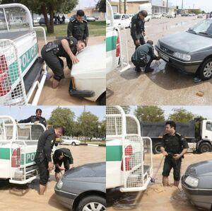 عکس العمل پلیس هنگام گرفتاری مردم +عکس