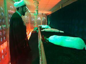 عکس/ حضور حجت الاسلام رستمی معراج شهدای اهواز