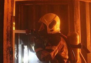 آتشسوزی ساختمان مسکونی در خیابان آزادی
