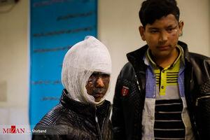 عکس/ مصدومین حوادث چهارشنبه آخرسال