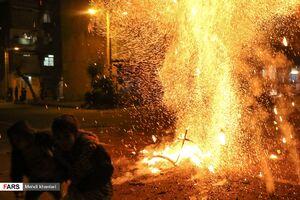 عکس/ عملیات انفجاری چهارشنبه سوری در تهران