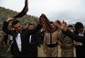عکس/ آیین استقبال از نوروز در روستاهای کردستان