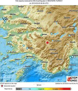 عکس/ محل زلزله  ۶.۴ ریشتری ترکیه