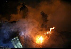عکس/ آتش سوزی در خیابانهای مولوی و شوش