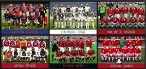 عکس/برترین تیمهای ادوار فوتبال باشگاهی جهان در یک قاب