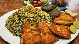 اطعام فقرا در تهران با سبزی پلو و ماهی