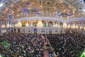 عکس/ تحویل سال درحرم امام حسین(ع)