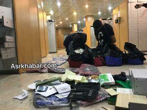 عکس/ بازداشت سارقان صندوق امانات بانک