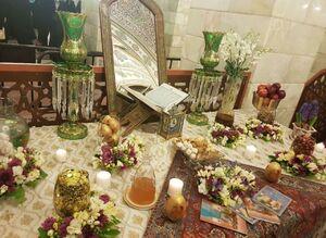 عکس/ سفره هفتسین در حرم حضرت رقیه(س)