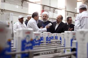 عکس/ حضور روحانی در کارخانه شیر  پگاه