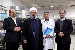 بازدید دکتر روحانی از مجموعه تولیدی شرکت صنایع شیر ایران(پگاه)