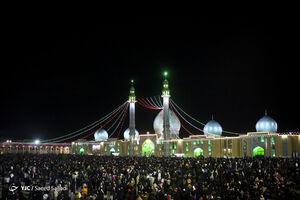 عکس/ لحظه تحویل سال در مسجد جمکران