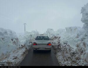 عکس/ بارش شدید برف در روستاهای شاهرود