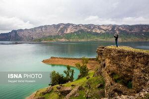 عکس/ دریاچهای زیبا در خوزستان