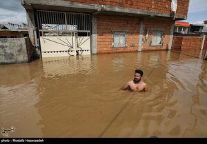 70 درصد شهر آققلا زیر آب قرار دارد