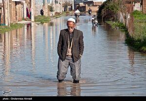 سیل در شرق گمیشان و روستای قره کیله استان گلستان