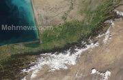عکس ماهوارهای از سیل گلستان